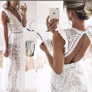 Tia Nova long white dress